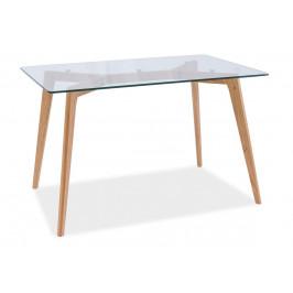 Casarredo Jídelní stůl OSLO dub/sklo