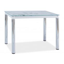Casarredo Jídelní stůl DAMAR II bílá-chrom