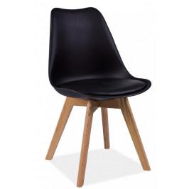 Casarredo Jídelní židle KRIS černá/dub