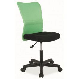 Casarredo Kancelářská židle Q-121 černá/zelená