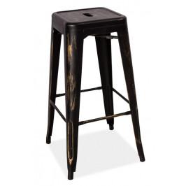 Casarredo Barová kovová židle LONG černá přetíraná