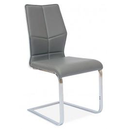 Casarredo Jídelní čalouněná židle H-422 šedá/bílý lak