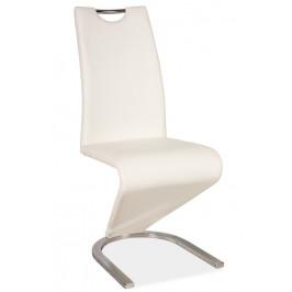 Casarredo Jídelní čalouněná židle H-090 bílá/chrom
