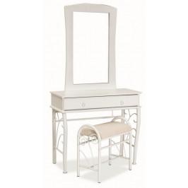 Casarredo Toaletní stolek 1102 se zrcadlem bílá/bílá