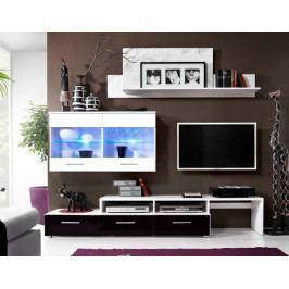 Casarredo Obývací stěna BALI - bílá/černá