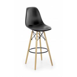 Halmar Barová židle H-51, černá
