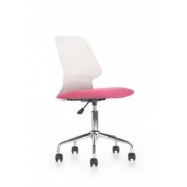 Halmar Dětská židle Skate, bílo-růžová