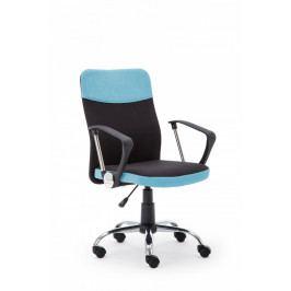 Halmar Kancelářská židle Topic, černo-modrá
