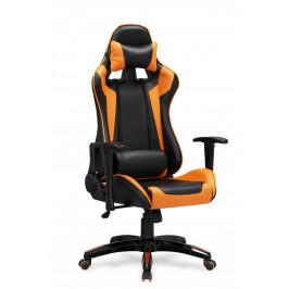 Halmar Kancelářské křeslo DEFENDER, černo-oranžový