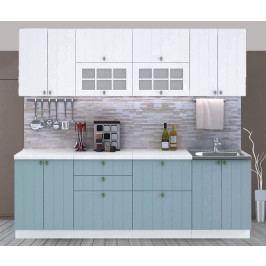 Casarredo Kuchyně PROVENCE 240 - bílá/světle modrá