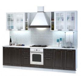 Casarredo Kuchyně PRAGA 280 II bílá/wenge