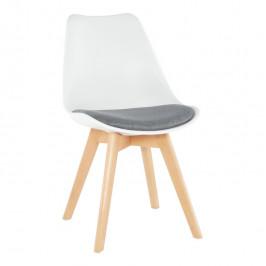 Tempo Kondela Židle DAMARA - bílá / šedá