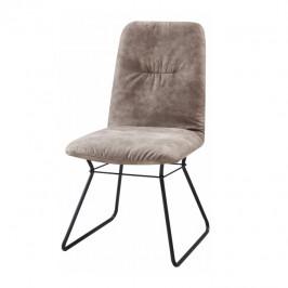 Tempo Kondela Moderní židle ALMIRA - šedá látka / černý kov