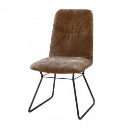 Tempo Kondela Moderní židle ALMIRA - hnědá látka / černý kov