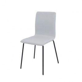 Tempo Kondela Jídelní židle RENITA - světle šedá / černá