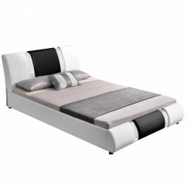 Tempo Kondela Moderní postel LUXOR, 160x200 - bílá / černá