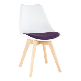 Tempo Kondela Židle DAMARA - bílá / fialová