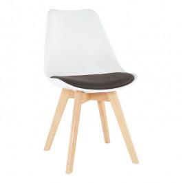 Tempo Kondela Židle DAMARA - bílá/čokoládová