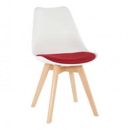 Tempo Kondela Židle DAMARA - bílá / červená