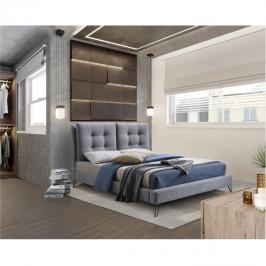 Tempo Kondela Moderní postel KOLIA, 160x200 - šedá