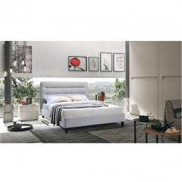 Tempo Kondela Manželská postel BALDER, 160x200 - šedá