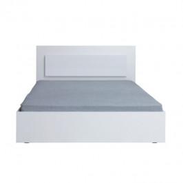 Tempo Kondela Manželská postel ASIENA,160x200 - bílá / vysoký bílý lesk HG