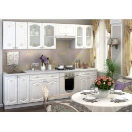 Casarredo Kuchyně CHARLIZE 260 - bílá se vzorem