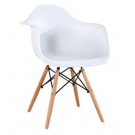 Casarredo Jídelní židle SHELL bílá