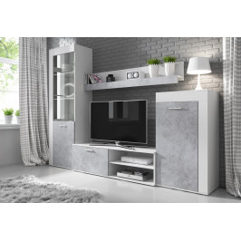Casarredo Obývací stěna SOLO bílá/beton