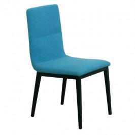 Tempo Kondela Jídelní židle ASLAN - tyrkysová látka / černý kov