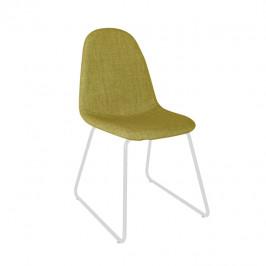 Tempo Kondela Židle ONTARI - látka zelená / kov