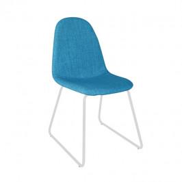 Tempo Kondela Židle ONTARI - látka modrá / kov