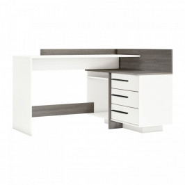 Idea Psací stůl rohový THALES 484883 dub Prata/bílá