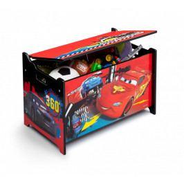 Forclaire Dřevěná truhla na hračky Cars 2