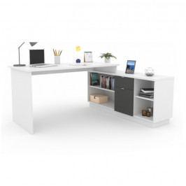 Tempo Kondela Kancelářský stůl DALTON NEW - grafit / bílá