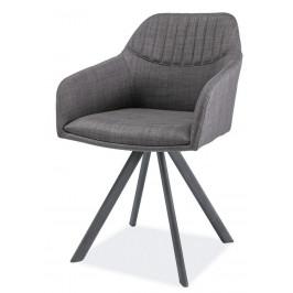 Casarredo Jídelní čalouněná židle MILTON II šedá