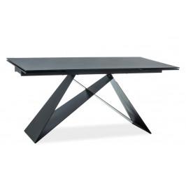 Casarredo Jídelní stůl rozkládací WESTIN II černý kámen/černý mat