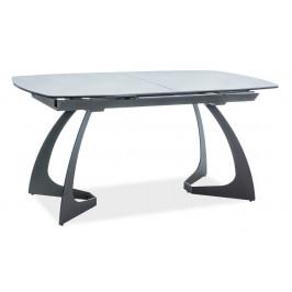 Casarredo Jídelní stůl MARTINEZ CERAMIC rozkládací šedá/černá