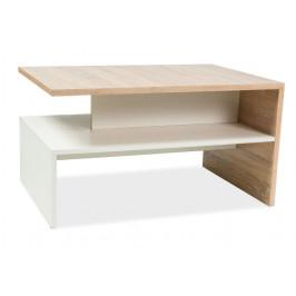 Casarredo Konferenční stolek FRIDA dub sonoma/bílá