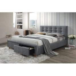 Casarredo Čalouněná postel ASCOT 160x200 šedá