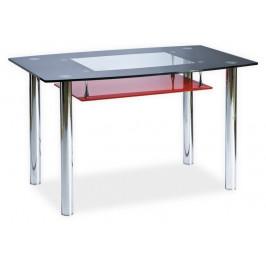 Casarredo Jídelní stůl TWIST A červená polička