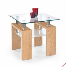 Halmar Konferenční stolek Diana H kwadrat, dub zlatý