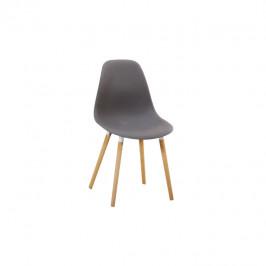 Tempo Kondela Židle KALISA - studená šedá plast / buk