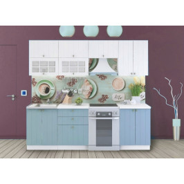 Casarredo Kuchyně PROVENCE 240/180 bílá/světle modrá