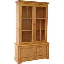 Unis Dřevěná knihovna prosklená 00310