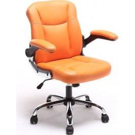 Tempo Kondela Kancelářské křeslo GARED - oranžová ekokůže