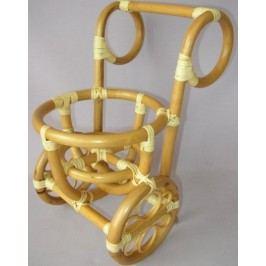 Axin Trading Ratanový stojánek na květinu vozík