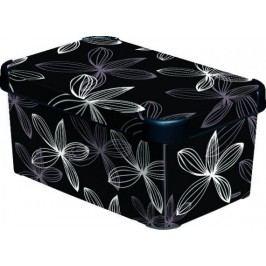 Curver Box DECOBOX - S- black flower