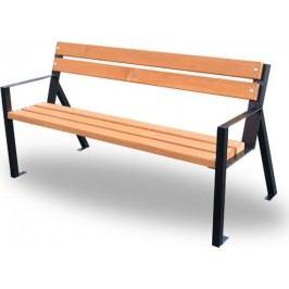 Rojaplast Zahradní kovová lavička KOLÍN 1