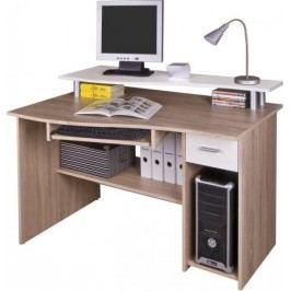 Tempo Kondela PC stůl PLUTO - dub sonoma